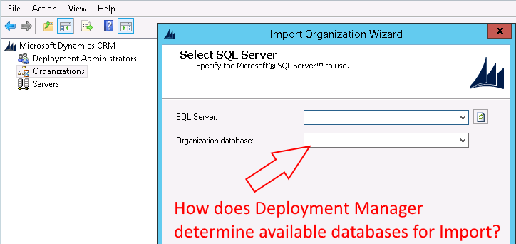 On-Premise Dynamics 365 – How does Deployment Manager find all available databases? – Brian Illand